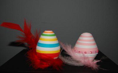 Jajko z papierowych pasków